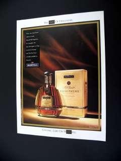 Martell XO Supreme Cognac 1991 print Ad