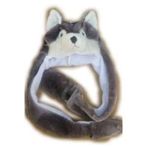 Plush Husky Animal Hat Wolf Brand New High Quality Polyester with