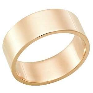 Millimeters, Flat High Polished 14Kt Gold Wedding Band Ring on Sale