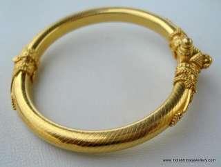 ESTATE VINTAGE 22k GOLD BRACELET BANGLE HANDMADE