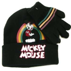 Disney Mickey Mouse Winter Fashion Hat & Gloves Set Toys & Games