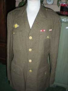 US ARMY WW2 UNIFORM BLOUSE PERSIAN GULF COMMAND 39L