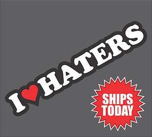 Haters v2 Sticker Decal   Love DGK jdm subaru honda evo wrx hate sti