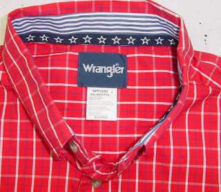 WRANGLER WESTERN COWBOY NATIONAL PATRIOT AMERICAN USA RED WHITE BLUE
