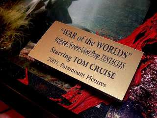 WOW, War of the Worlds Prop Alien, Signed TOM CRUISE pp Autograph DVD