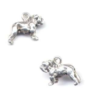 Silver Bull Dog Charm AKC Breed Jewelry Gift Boxed