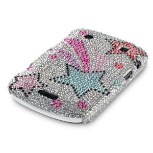 BLACKBERRY BOLD 9930 SHOOTING STARS DIAMANTE CASE, WITH QUBITS BRANDED