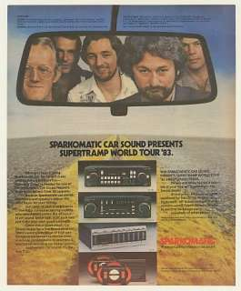 1983 Supertramp World Tour Sparkomatic Car Stereo Ad