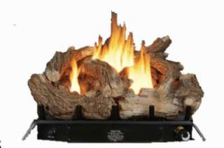 Kozy World 24 Inch Vent Free Gas Log Set w/ Thermostat 013204224509