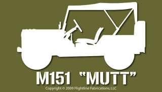 M151 Mutt Vietnam Era Jeep Top Up Vinyl Decal Sticker