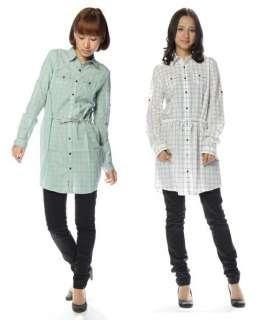New DIESEL Brand Women CIVIGY Check Plaid Dress Shirts