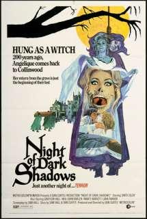 Night of Dark Shadows 1971 Original U.S. One Sheet Movie Poster