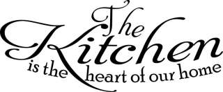 The Kitchen Is The Heart Of Our Home Wall Words