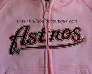 HOUSTON ASTROS Baby Girl PINK Sweatshirt Hoodie 6 9 12