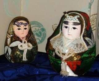 Vintage Japanese Wedding HAKATA Dolls w. Kimono
