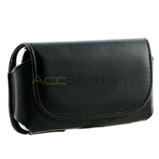 for iPHONE 3G 4G 4S 4 BLACK LEATHER CASE POUCH BELT CLIP