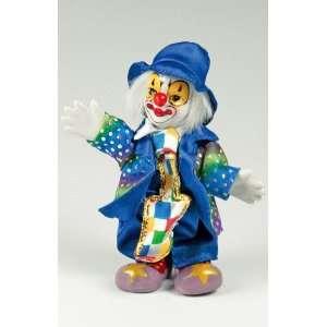 Clown Figurine   Colorful Pants & Long Tie, Hand Painted