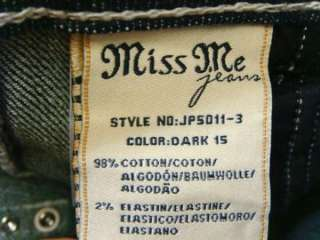 MISS ME Jeans Crystals Angel Wings Dark Blue Stretch
