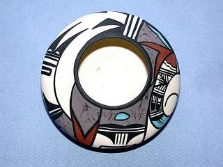 Beautiful Vintage Hopi Bird Arizona Desert Pueblo Pottery Bowl / Vase
