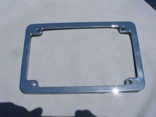 Chrome Classic Motorcycle License Plate Frame 8x5 5x8