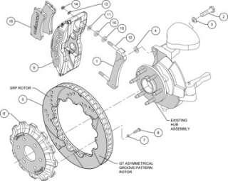 Front Disc Brake Kit Wilwood Big Brake 140 8992 DR +
