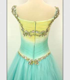 TERANI COUTURE Silk $600 Aqua Prom Pageant Formal Gown   BRAND NEW