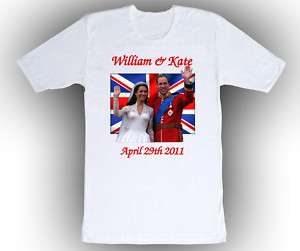 Prince William & Kate Middleton Royal Wedding T Shirt |