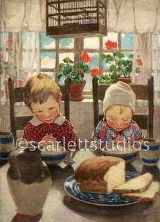 CHILDREN SAYING GRACE   JESSIE WILLCOX SMITH Giclee Print 9x12 Paper