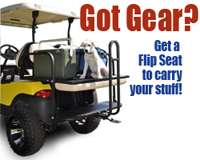 Rear Flip Seat Club Car Precedent (Black in color) Golf Cart 2 n1 Flip