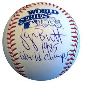 Signed George Brett 1985 World Series Baseball 85 CHAMPS