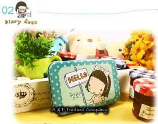 Korea Ponybrown Girls Cute Design Iron Box Deco Sticker