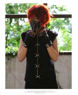 gothic top punk vest motorcycle jacket stud jacket XL