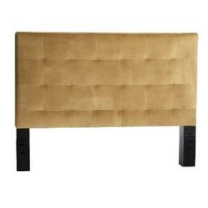 west elm Grid Tufted Headboard, Twin, Brown Sugar Home