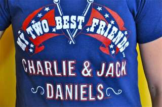 & JACK DANIELS Band Tour Shirt 70s Southern Rock Rebel S
