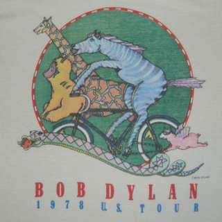 1978 BOB DYLAN U.S. TOUR T SHIRT 70s ORIGINAL CONCERT TEE