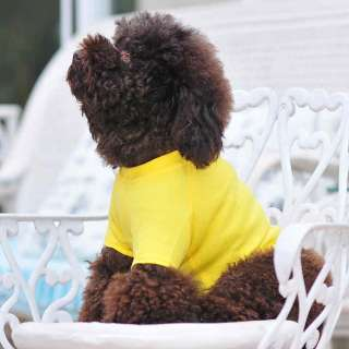 Dog T shirts wholesale dog clothing Dog blank t shirt Pet tee cotton