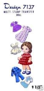 7137 Rag doll & wardrobe pattern   dimensional doll