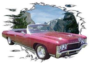 You are bidding on 1 1971 Burgundy Chevy Impala Convertible Custom