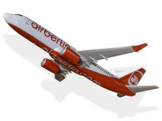 Boeing 737 800 Air Berlin Wood Desktop Airplane Model