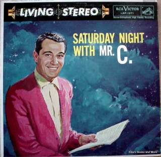 Perry Como Saturday Night With Mr. C. LP VG+ Living Stereo 1958