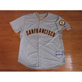 San Francisco GIANTS #28 BUSTER POSEY Gray Jersey sz 54