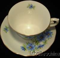 Anne Teacup and Saucer Beautiful Blue Flowers pattern 7878