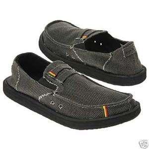 SANUK Mens Kingston Black Sandals