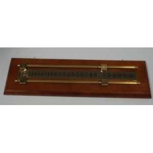 Wood/Brass Scoreboard by Sun Glo   Dark Stain Sports