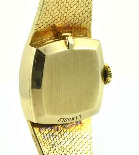 Ladies Rolex Watch 14k Solid Yellow Gold Manual Wind 8133