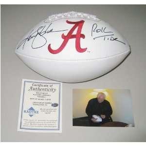 Signed Ken Stabler Ball   Alabama Logo