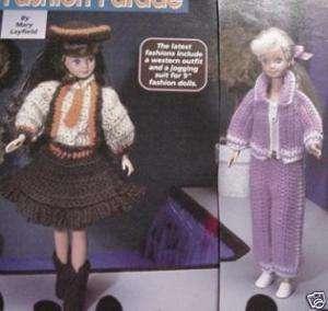 Western Wear,Jogging Suit Fashion Doll Crochet Pattern