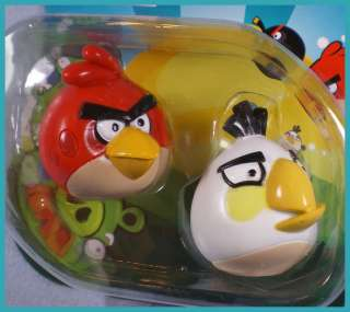 ANGRY BIRDS Red and White Bird Collectible Figurines New in Package #2