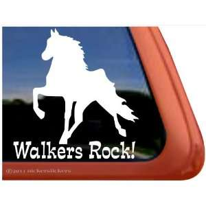 WALKERS ROCK! ~ Tennessee Walking Horse Trailer Vinyl Window Decal