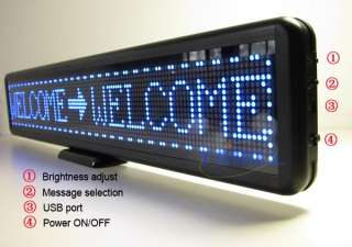 Blue Programmable LED Moving Scrolling Message Display Sign Board 21